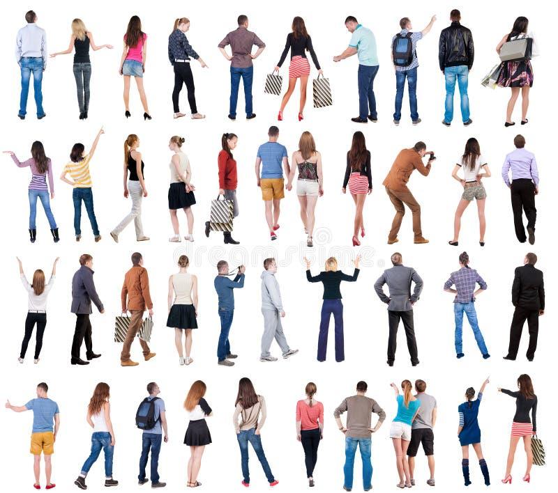 Gente posteriore di vista della raccolta fotografia stock