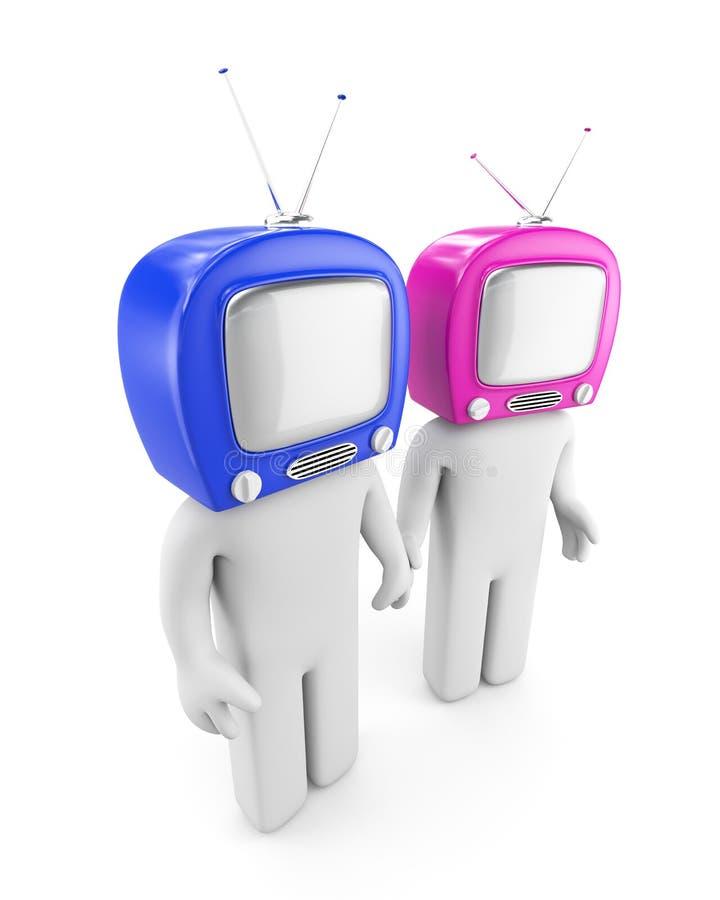 Gente principal de la TV ilustración del vector