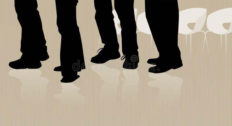 Gente que espera en línea libre illustration
