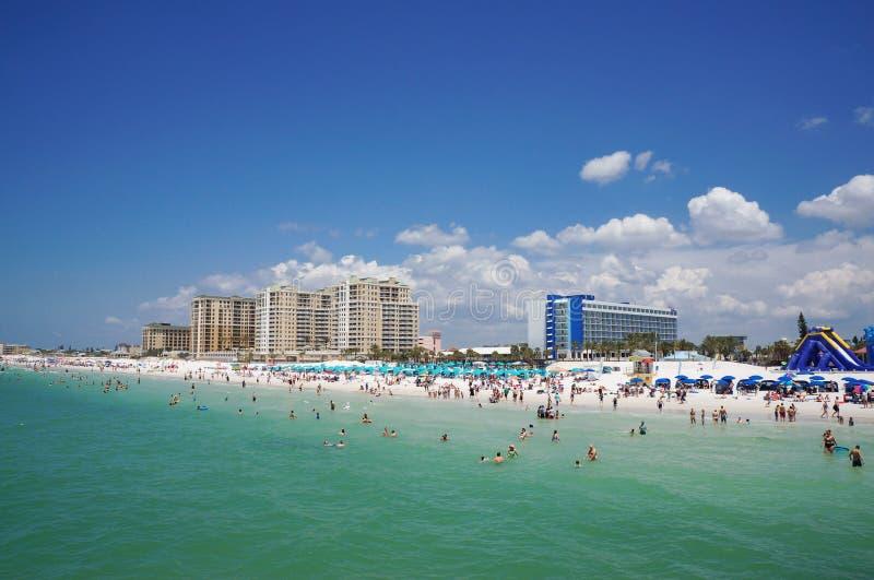 Gente que goza del agua, playa la Florida, vacaciones de primavera de Clearwater fotografía de archivo libre de regalías