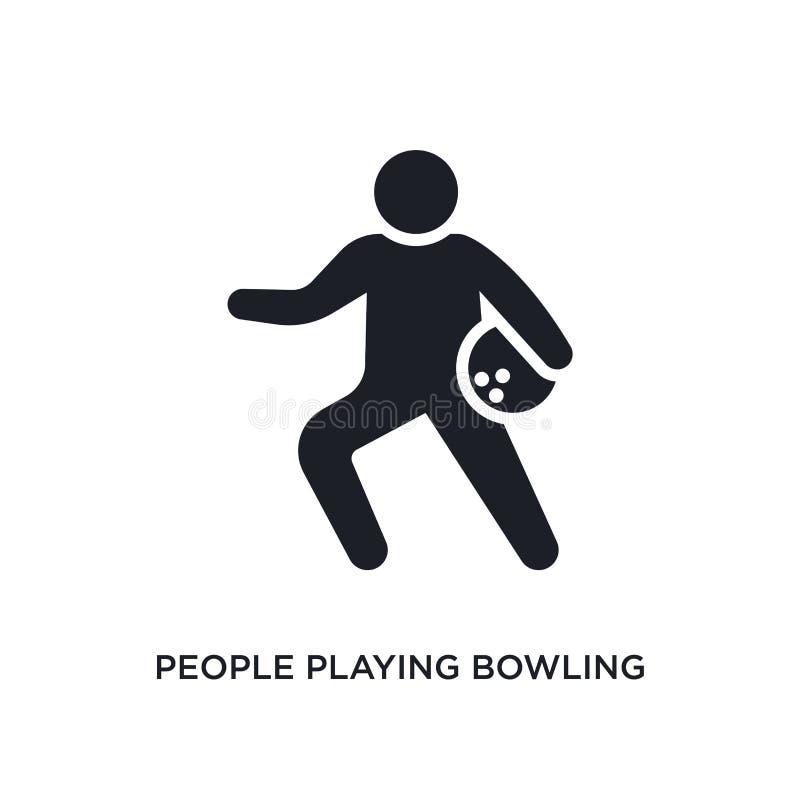 gente que juega el icono aislado que rueda ejemplo simple del elemento de iconos recreativos del concepto de los juegos Gente que libre illustration