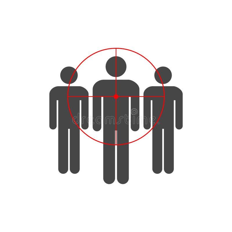 Gente que se coloca, consumidor apuntado stock de ilustración