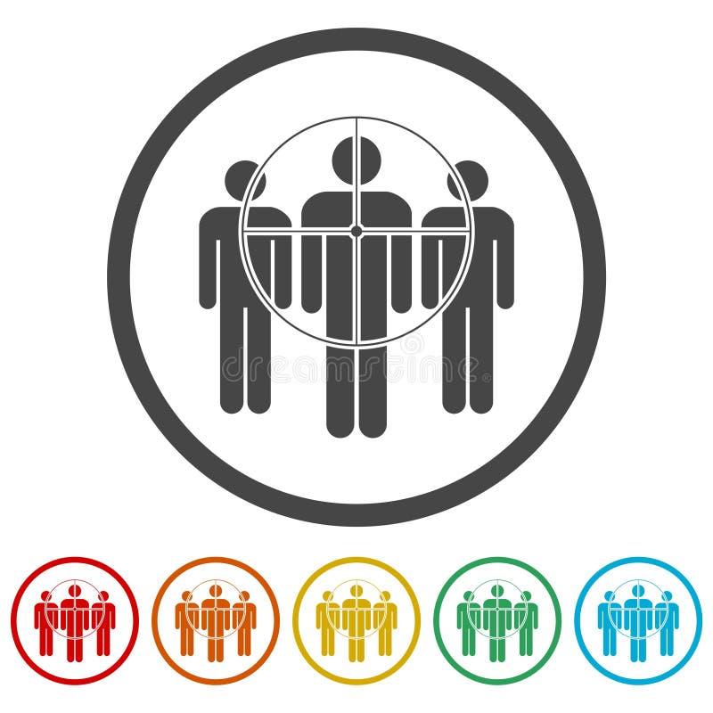 Gente que se coloca, consumidor apuntado ilustración del vector