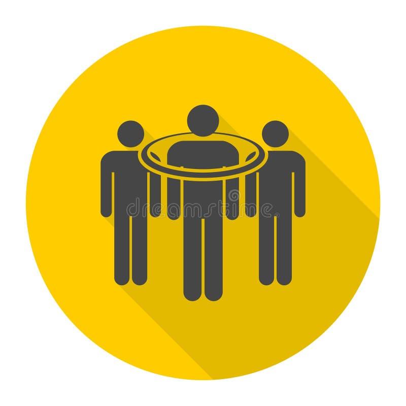 Gente que se coloca, icono apuntado del consumidor con la sombra larga libre illustration