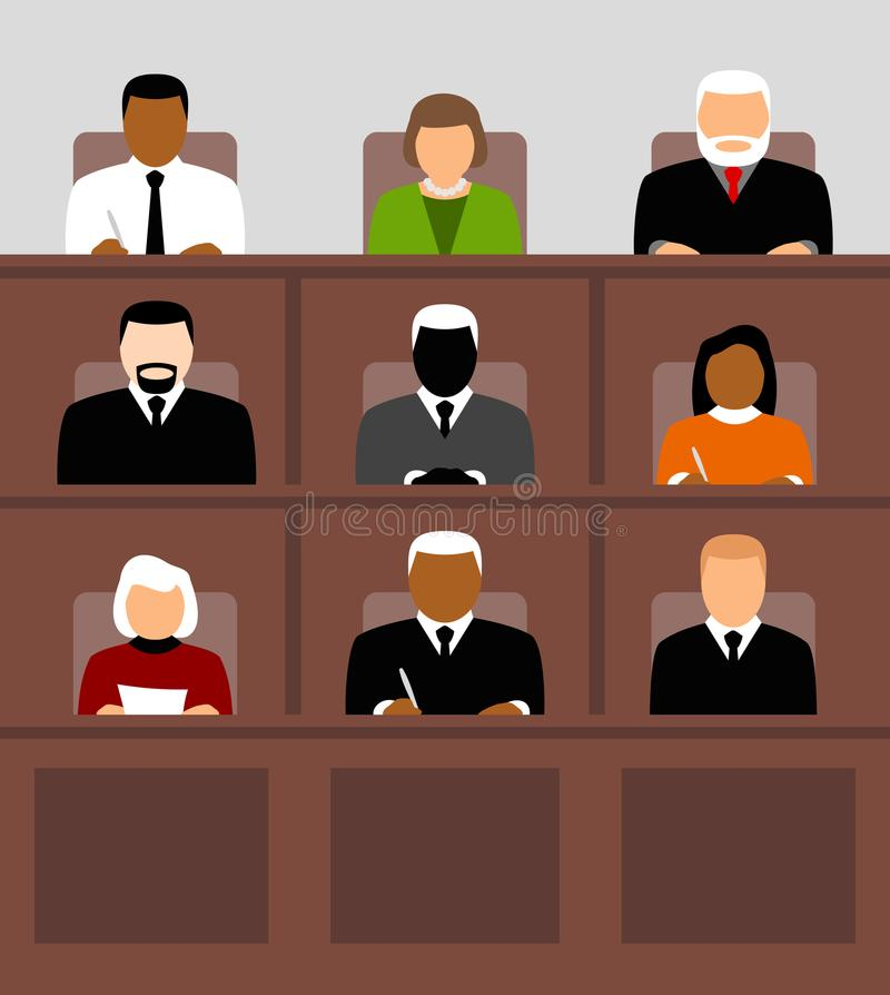 Gente que se sienta en audiencia stock de ilustración