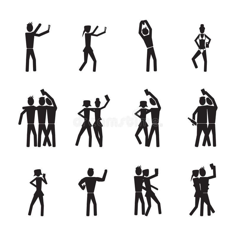 Download Gente Que Toma Los Selfies, Sistema Del Selfie Ilustración del Vector - Ilustración de feliz, amigo: 42438832