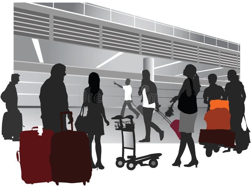 Gente que viaja stock de ilustración