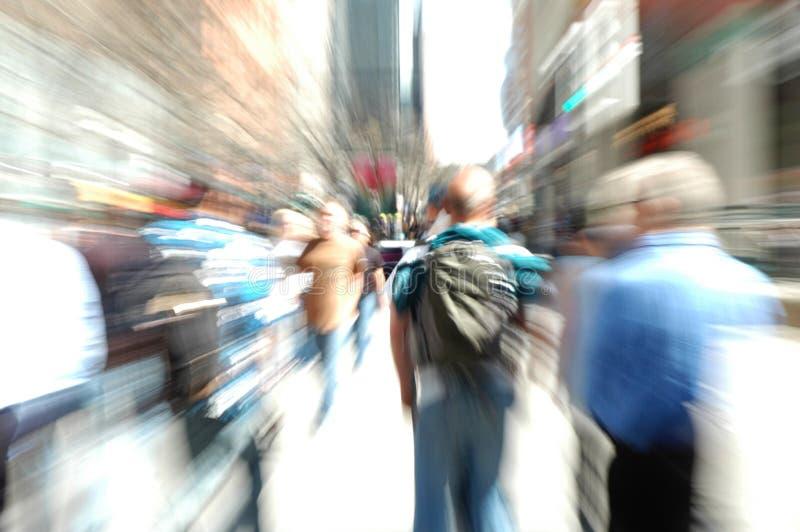 Gente sobre hora punta imagenes de archivo
