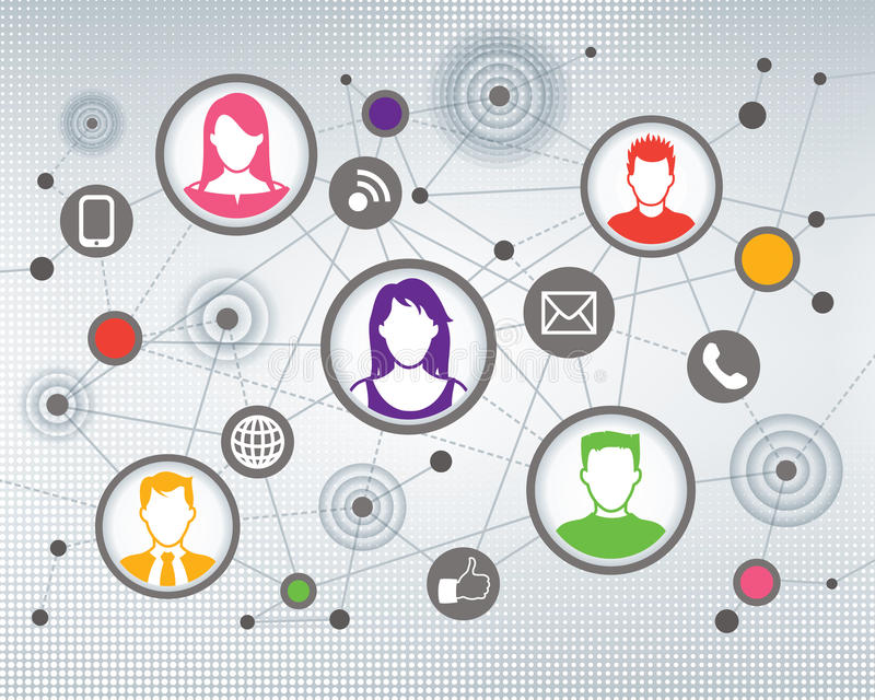 Gente social de la comunicación libre illustration