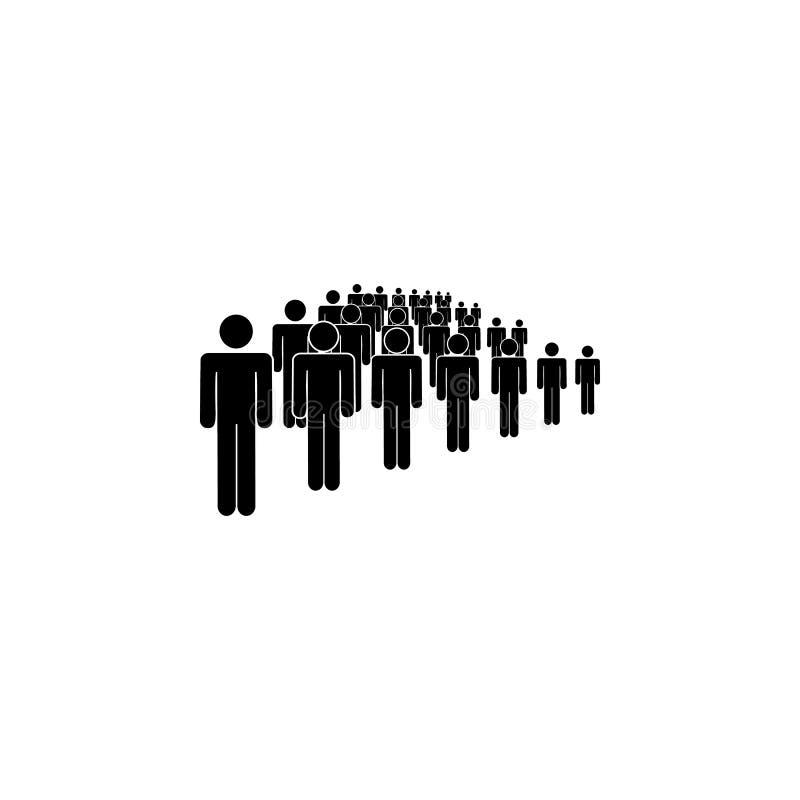 gente, sociedad, icono espeso Elemento de un icono de grupo de personas Icono superior del diseño gráfico de la calidad muestras  ilustración del vector