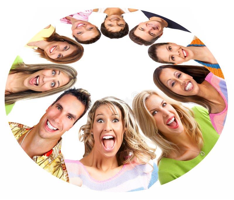 Gente sonriente feliz imagenes de archivo