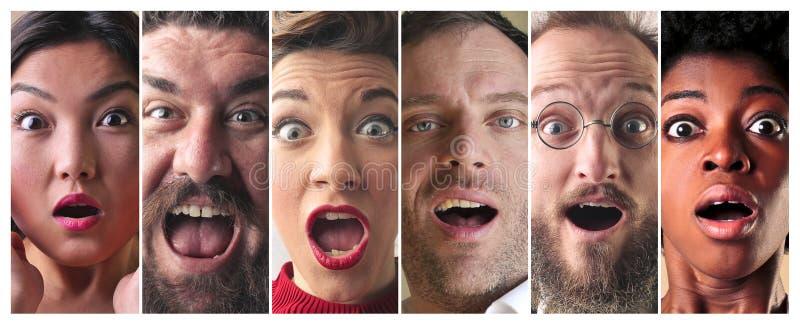 Gente sorpresa fotografie stock libere da diritti