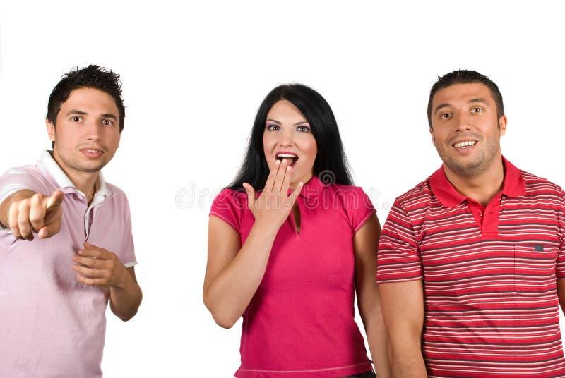 Gente sorpresa immagini stock libere da diritti