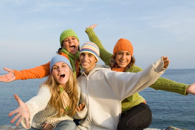 Gente sorridente fotografie stock libere da diritti