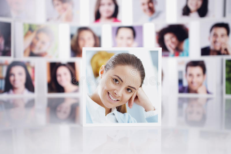 Gente sorridente fotografia stock