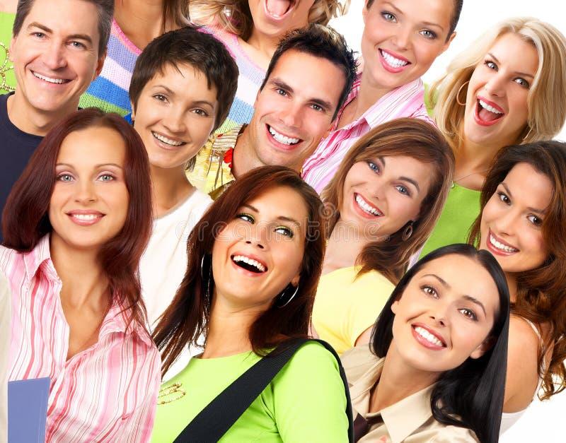 Gente sorridente felice fotografia stock libera da diritti
