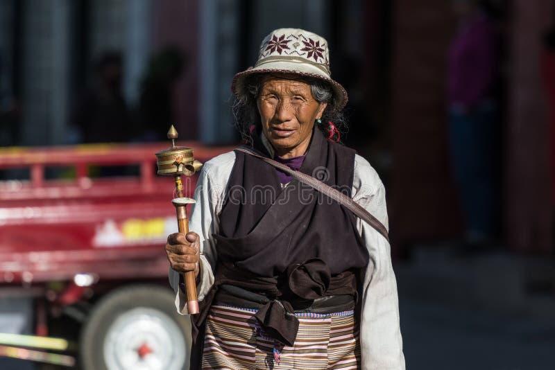 Gente tibetana foto de archivo libre de regalías