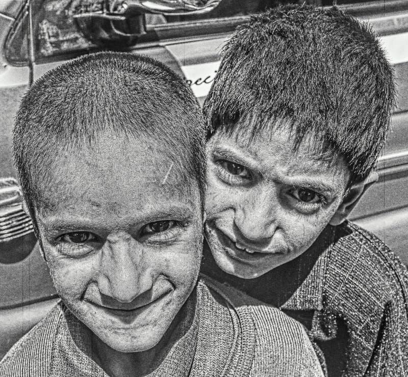 Gente tribale immagine stock
