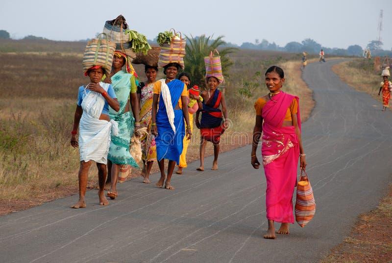 Gente tribale in India fotografia stock
