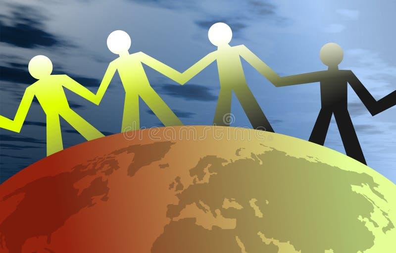 Gente unida libre illustration