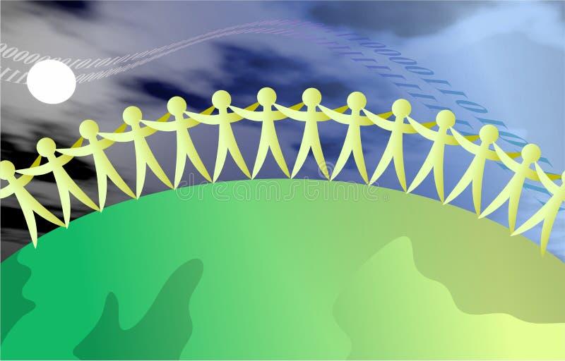 Gente unida stock de ilustración