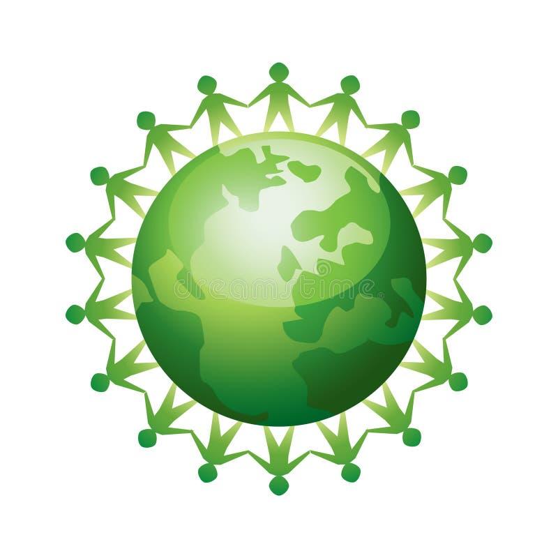 Gente unida en todo el mundo ilustración del vector