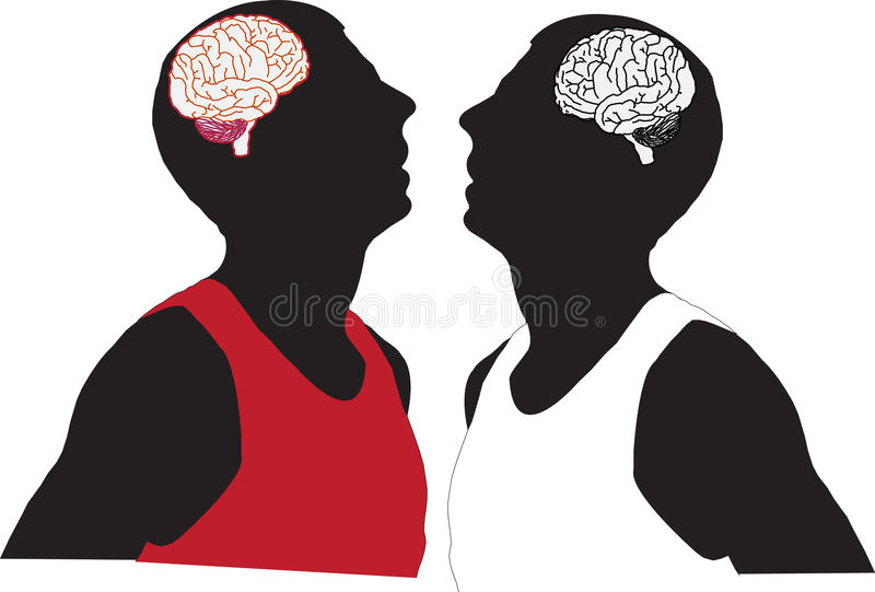 Gente y cerebro ilustración del vector