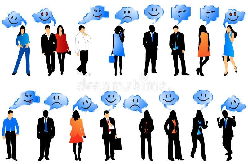 Gente y sonrisas ilustración del vector