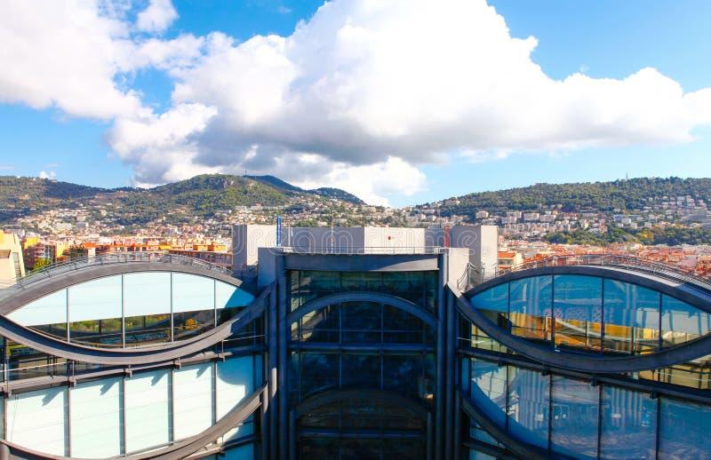 Gentil, Frances - 17 octobre 2011 : Détail architectural du musée de l'art contemporain image stock