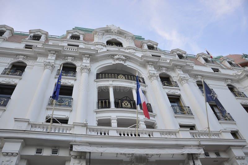 Gentil, le 5 septembre : Bâtiment historique du boulevard célèbre de Promenade des Anglais dans Metropola Nice image libre de droits
