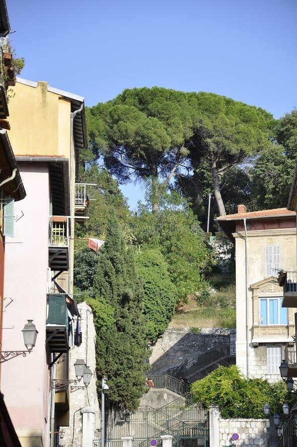 Gentil, le 5 septembre : Colline du Chateau de la vieille ville de Nice de la Côte d'Azur images stock