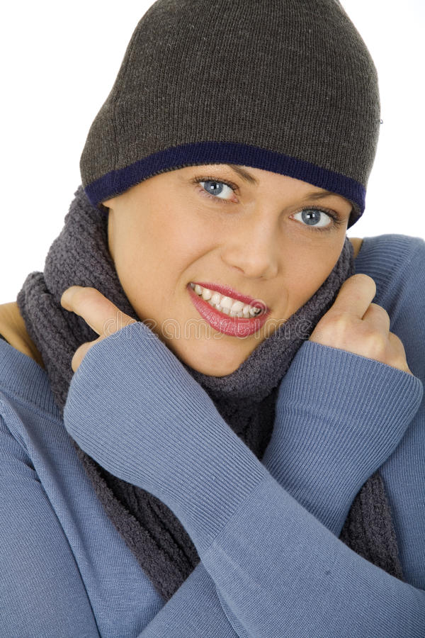 Gentille femme heureuse photographie stock libre de droits