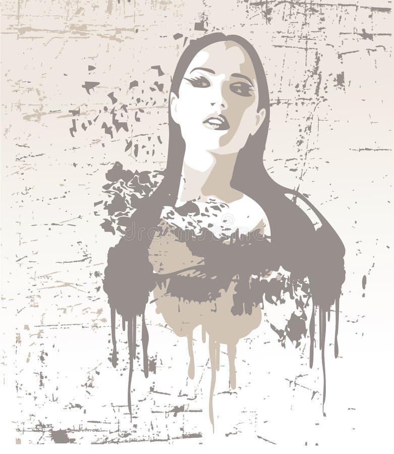 Gentille fille, illustration de vecteur illustration libre de droits