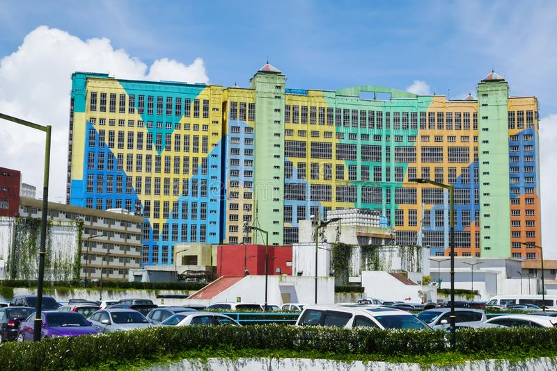 Genting First World Hotel is a 3 star hotel which is located in Bentong, Pahang, Malaysia. Genting Highlands, Malaysia - October 18,2017 : Genting First World stock image