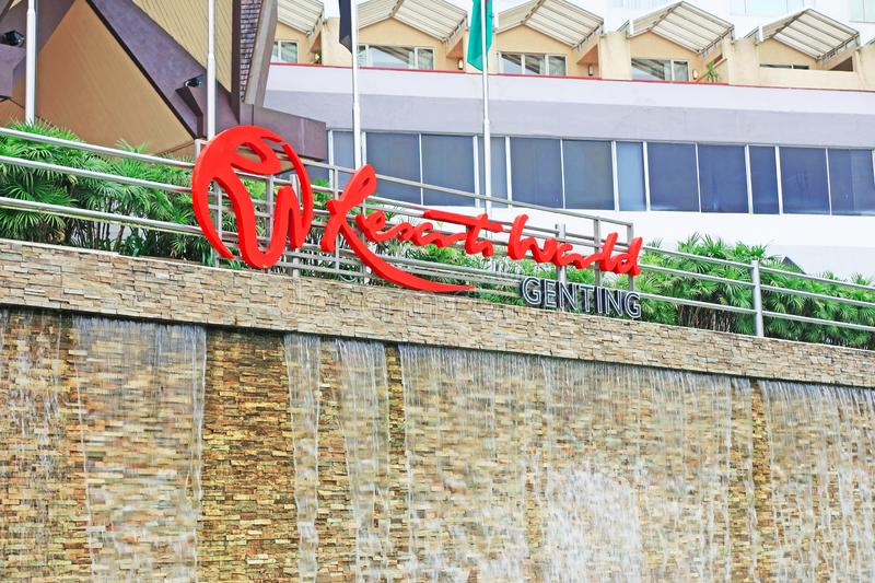 Genting Highlands, Malaysia - 15 October 2018 : Resorts World Genting is a hill resort located in Bentong, Pahang, Malaysia. A Genting Highlands, Malaysia - 15 royalty free stock images