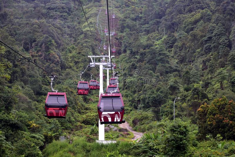 Genting-Hochländer, Malaysia - 2. November 2017: Genting-Hochländer Awana Skyway stockbild