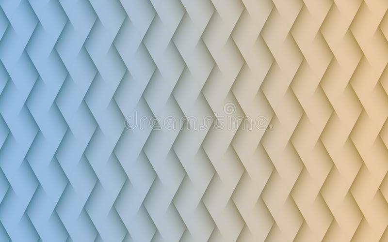 Gentle blue and sand white angled lines geometric abstract wallpaper background illustration stock illustration