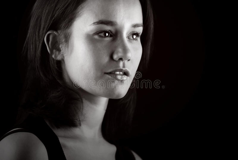 Gentle Brown Haired Lady Stock Photos