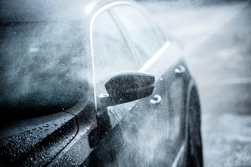 Gentle Car Washing royalty free stock photos