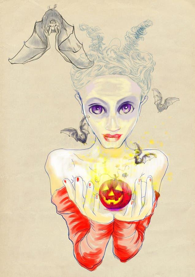 Download Gentle devil stock vector. Image of fear, heaven, entertainment - 26405091