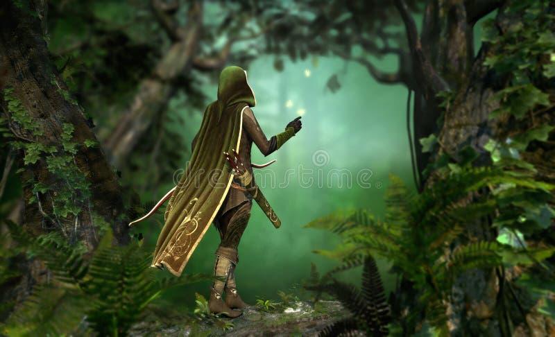 Gentle Hunter vector illustration