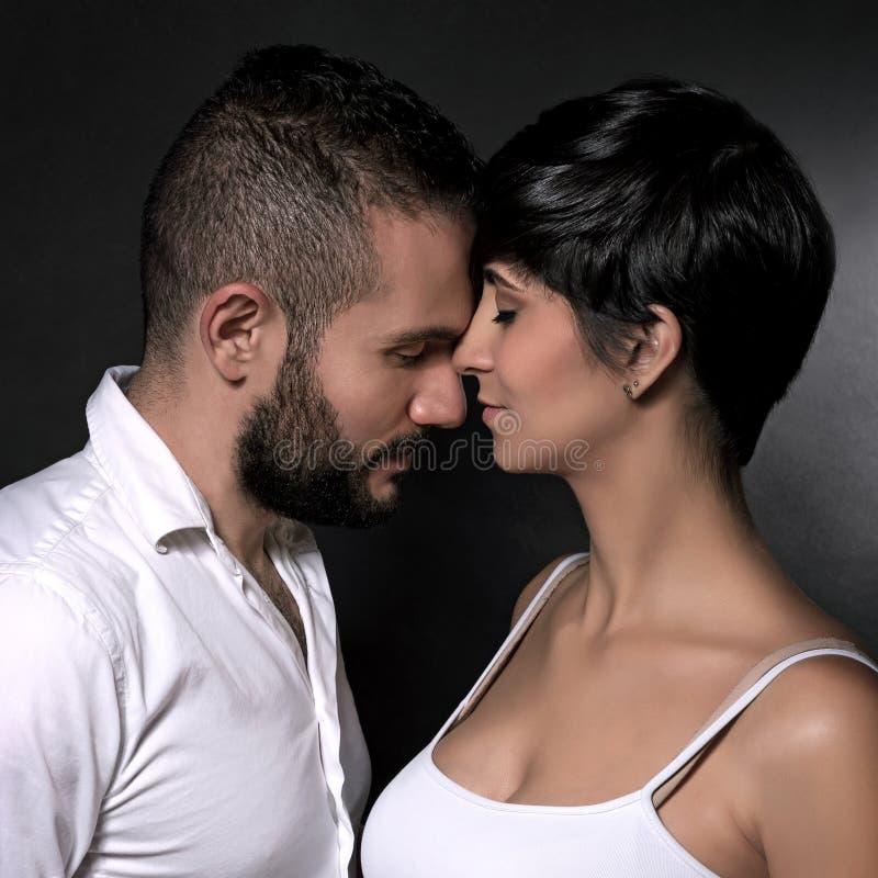 Gentle loving couple royalty free stock photos
