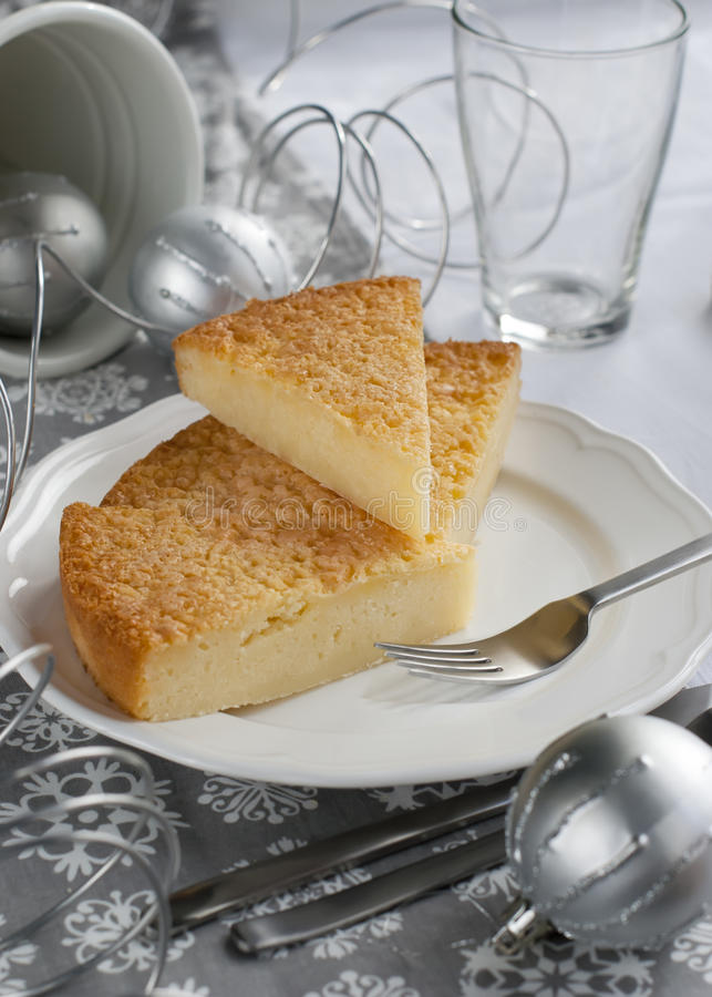 Download Gentle Pie On A Christmas Table Stock Photo - Image: 27207936