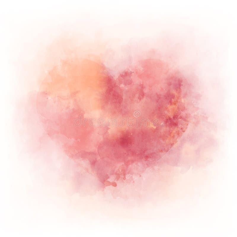 Free Gentle Pink Watercolor Heart - Romantic Ald Love Symbol Stock Images - 143152544