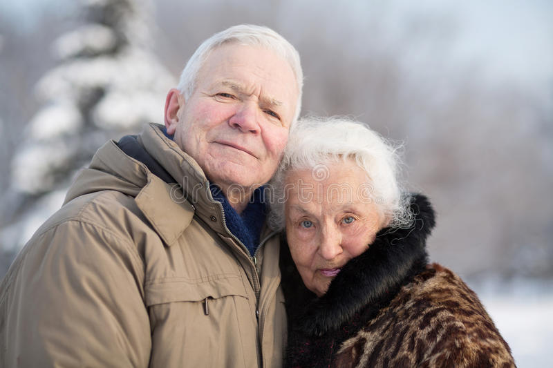 Download Gentle Portrait Of An Elderly Couple Royalty Free Stock Photo - Image: 32976365