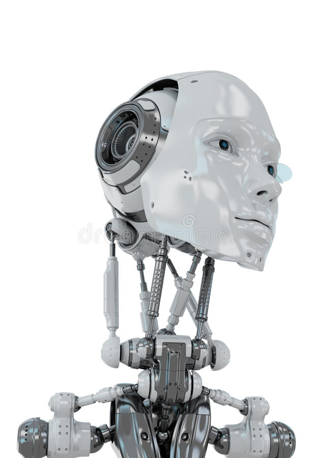 Gentle robotic woman stock photography