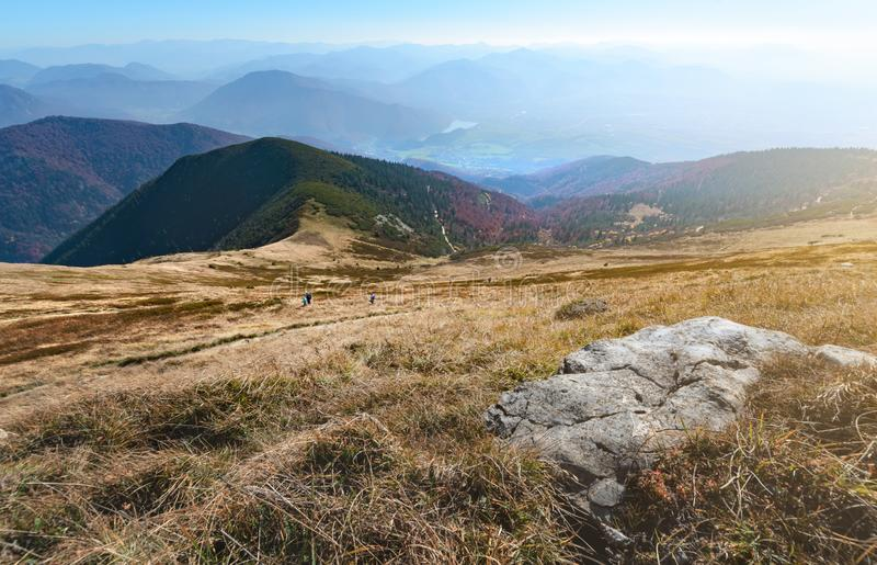 Gentle slope of the mountain in The Vratna valley. royalty free stock image