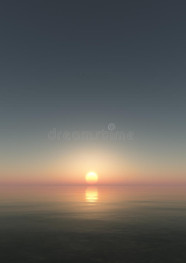 Gentle Sunset Background royalty free stock photography