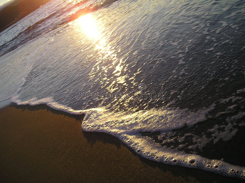 Download Gentle Wave at Dusk stock image. Image of beach, dark, escape - 131581