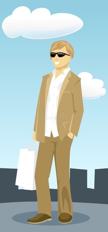 Download Gentleman stock vector. Image of clip, caricature, brown - 5809476